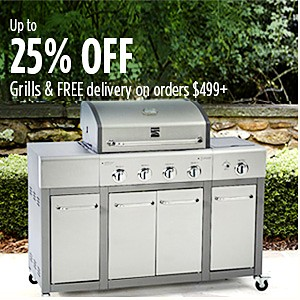 Up to 20% off Grills | Free Delivery on orders $499+