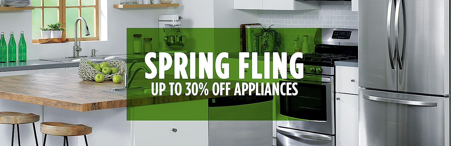 Spring Fling | Up to 30% off appliances