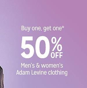 Buy one, get one 50% off men's & women's Adam Levine clothing
