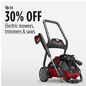 Up to� 30% off� Electric mowers, �trimmers & saws