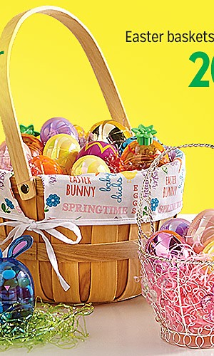 20% off Easter baskets & accessories  | Plus, extra 10% off with code: SPRING