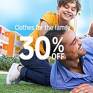 30% off clothes for the family