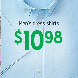 Men's dress shirts, $10.98