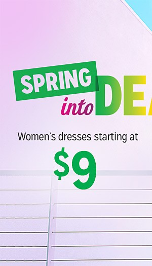 Spring into Deals | Women's dresses, starting at $9