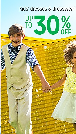 Up to 30% off kids dresses and dresswear
