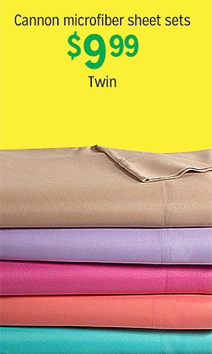 Canon microfiber sheet twin sets, $9.99