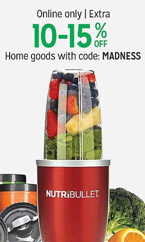 Online only | Extra 10-15% off home goods with code : MADNESS