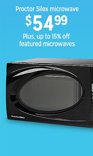 Proctor Silex microwave, 59.99 | Plus, up to 15% off featured microwaves