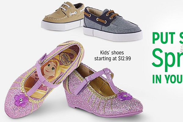 Put some spring in your step | Kids shoes starting at $12.99