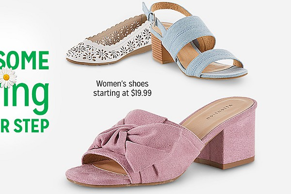 Put some spring in your step | Womens shoes starting at $19.99