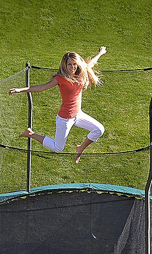 Propel 12' trampoline with enclosure $179.99