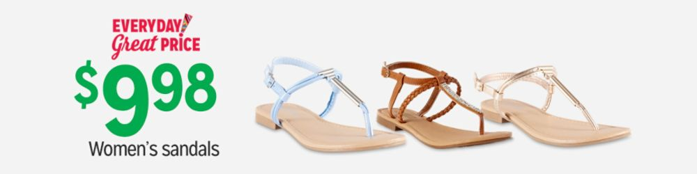 Everyday Great Price!  $9.98 Women's Sandals