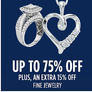 Extra 15% off fine jewelry (already up to 75% off)