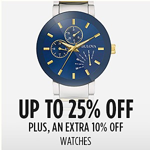 Friends & Family - Extra 10% off watches (already up to 25% off)
