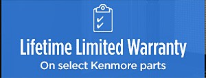 Lifetime Limited Warranty on select Kenmore parts