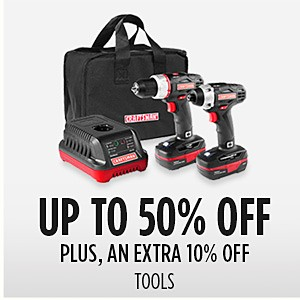 Family & Friends | Up to 50% off Tools + Extra 10% off