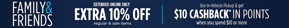 Extended Online Only Extra 10% off regular & sale items