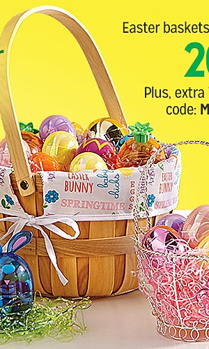 20% off Easter baskets & accessories  | Plus, extra 10% off with code: MADNESS
