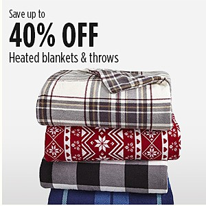 Save up to 40% on heated blankets & throws