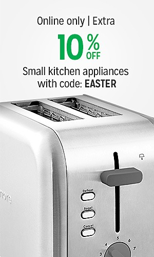 Online only | Extra 10% off cookware & small kitchen appliances with code: EASTER