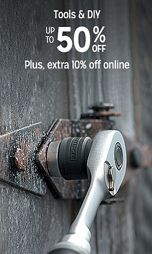Up to 50% off tools & DIY | Plus, extra 10% off online | shop now