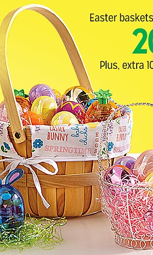 20% off Easter baskets & accessories | Plus, extra 10% off online