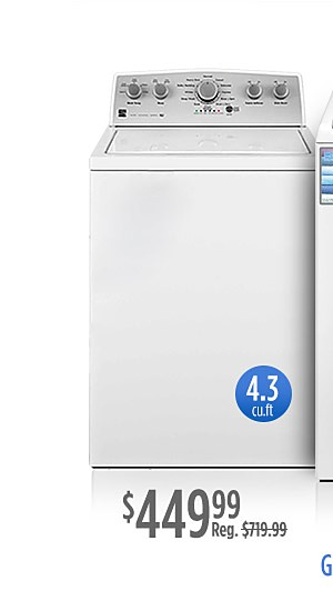 $449.99 Kenmore 4.3 cu ft. washers