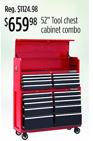 $659.98 Craftsman tool chest cabinet combo