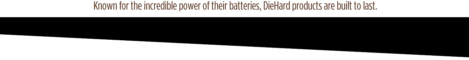 DieHard — Known for the incredible power of their batteries, DieHard products are built to last.