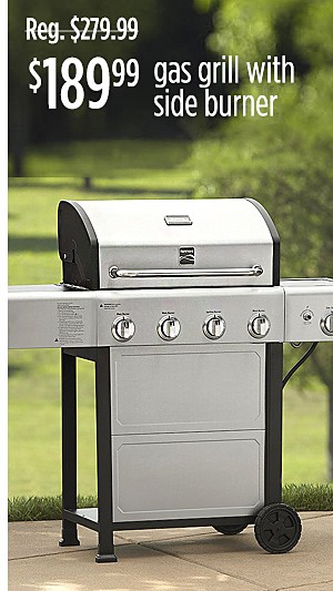 $189.99 Kenmore gas grill with side burner