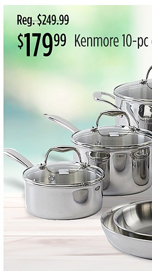 $179.99 Kenmore 10-pc cookware set