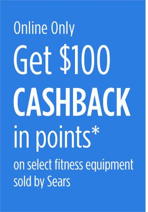 $100 CASHBACK in points on select fitness