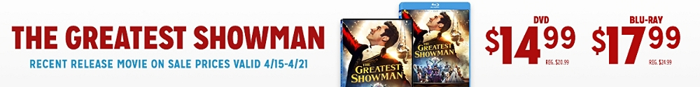The Greatest Showman available on DVD & Blu-ray