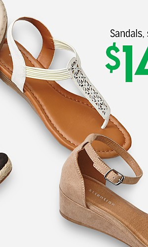 Sandals for the family, starting at $14.99
