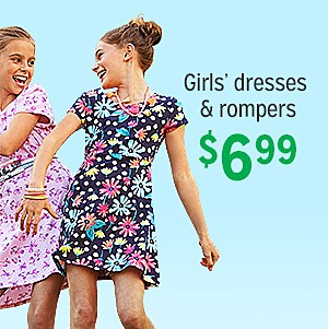 $6.99 Dresses and Rompers for Girls