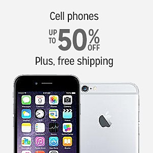 Up to 50% off on Cell Phones With Free Shipping