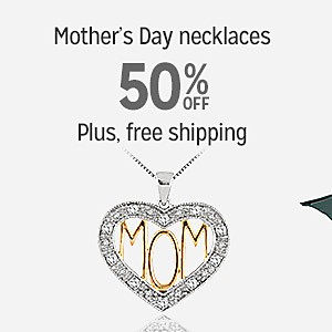 50% off Mother's Day necklaces | Plus, free shipping