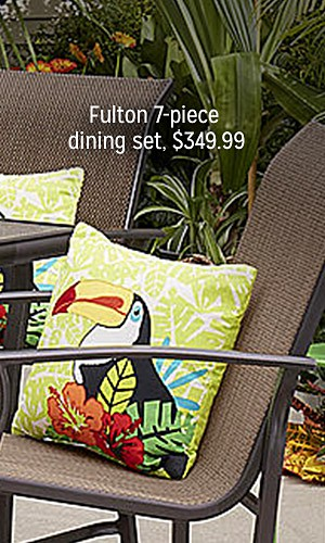 Fulton 7-piece dining set, $349.99