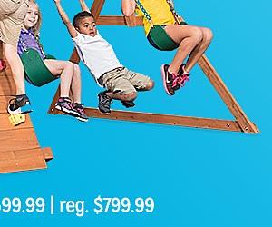 Backyard Discovery Rockin' Adventure swing set, $599.99 | reg. $799.99