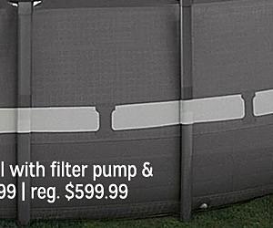 "Sale $349.99, Intex 16' x 48"" Round Ultra Frame® Pool Set with Filter Pump & Ladder"