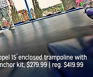 Sale $279.99, Propel Trampolines 15' Enclosed Trampoline with Anchor Kit