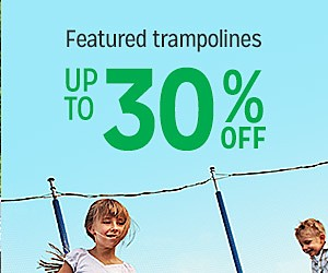 Up to 30% off featured trampolines