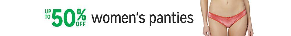 Up to 50% off women's panties