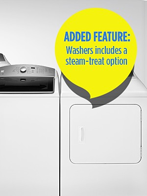 Get More with the Same Price After CASHBACK in points. Added Feature: Washer includes a steam-treat option