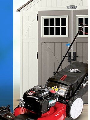 "Up to 25% off Lawn & Garden ft. $219.99 Craftsman 21"" 163cc Briggs & Stratton 3-in-1 Lawn Mower with High Rear Wheels"