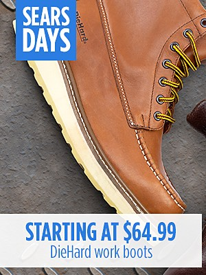 DieHard work boots starting at $64.99