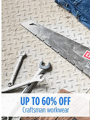Craftsman Club Members! Up to 60% off Craftsman Workwear