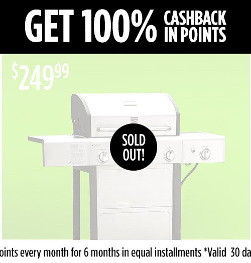 Get 100% CASHBACK in points