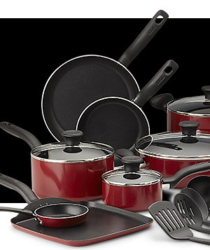 $89.99 T-fal 18 pc cookware set reg. $129.99