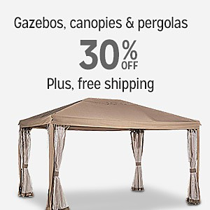 30% off gazebos, canopies & pergolas  | Plus, free shipping